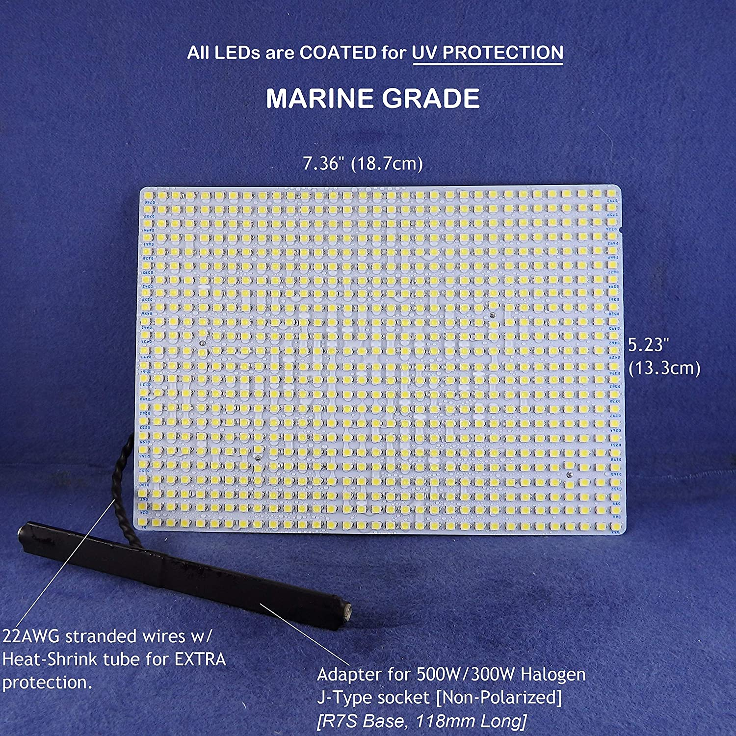 Water Resistant Led Panel For Flood Light Fixtures 120vac 7000lumens 33watts Marine Grade Soft White 3000k Amazon Com