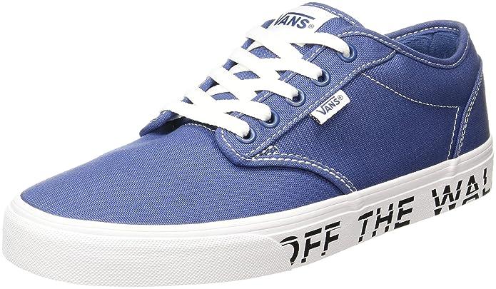 Vans Atwood Herren Sneaker Blau Bedruckte Seitensohle