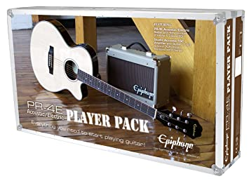 Epiphone ppgr-eep4ebch3-uk acústica guitarra eléctrica Pack, negro, juego de 8Â