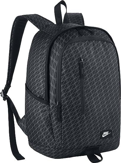 Nike 25 Ltrs Black Black White School Backpack (BA5231-011)  Amazon ... f6b79f91cb1b9