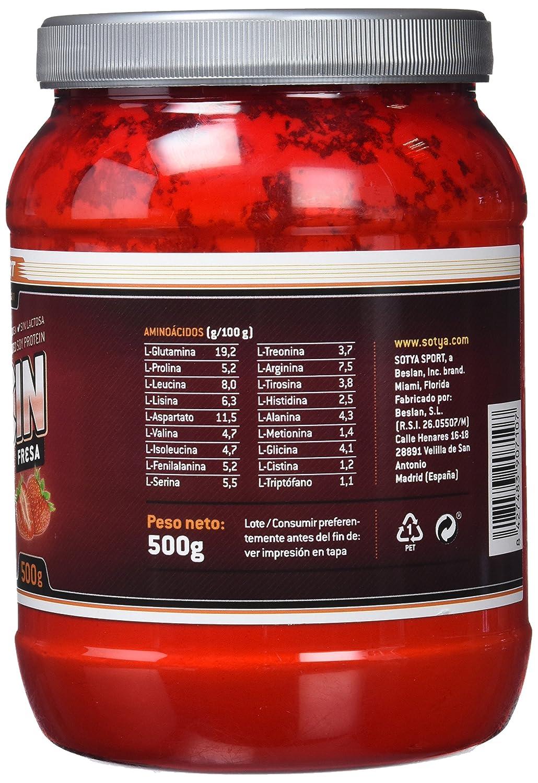 SOTYA - SOTYA Proteína Soja 90% Fresa 500 gr: Amazon.es: Salud y cuidado personal