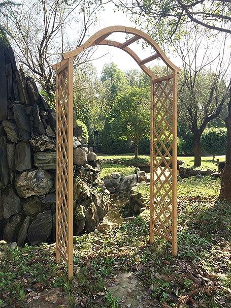 Marko Gardening - Arco de madera para jardín, diseño enrejado: Amazon.es: Hogar