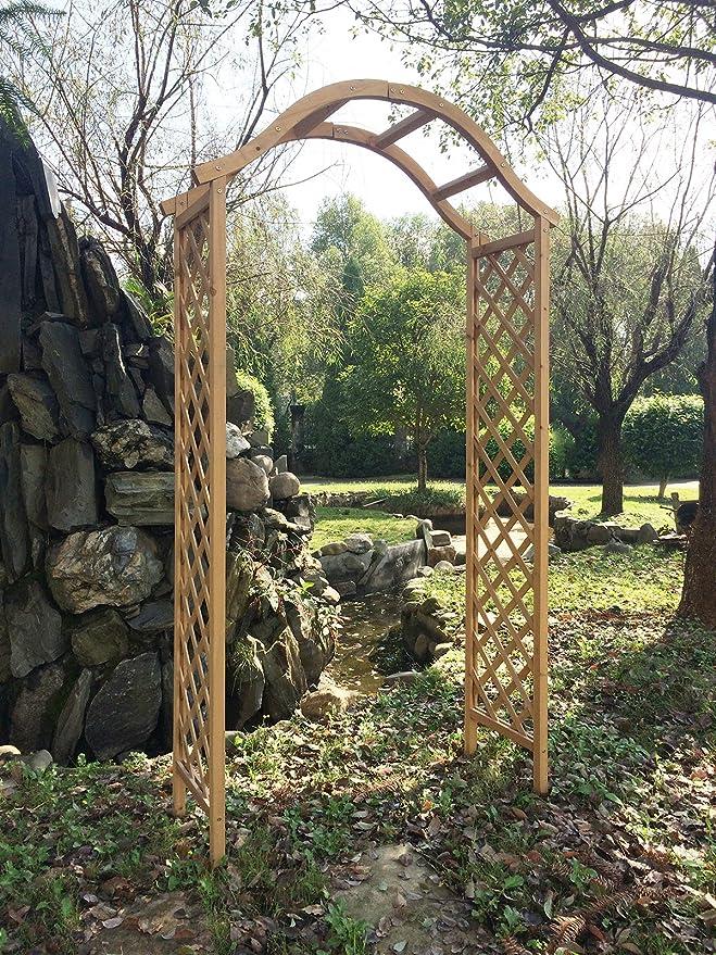 Marko Gardening - Arco de madera para jardín, diseño enrejado ...