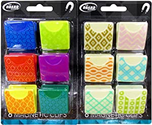 Retro Design Magnetic Clip 1.5 Inch - Pack of 12