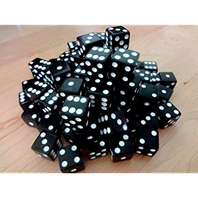 Discount Learning Supplies 100 Black Dice - 16Mm: Toys & Games
