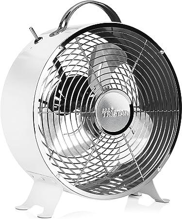 Ventilador de mesa retro Tristar VE-5967 – 25 centímetros – Blanco: Amazon.es: Hogar