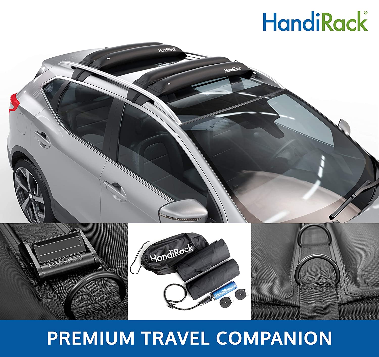 HandiWorld MPG452 Kayaks Paddleboards,Luggage Carry Canoes Universal roof rack bars -FITS MOST VEHICLES /& SUVs- Best Inflatable roof top cargo carrier Surfboards HandiRack 80kg//175lbs load capacity