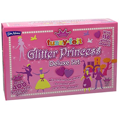 John Adams Fuzzy-Felt Glitter Princess Set: Toys & Games