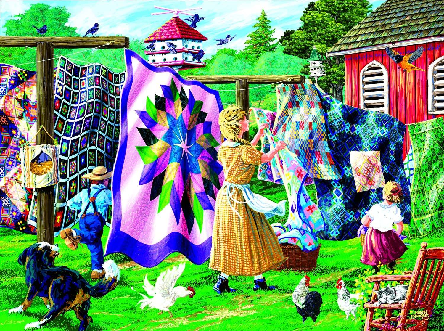 Quilter's Clothesline 1000 Pc Jigsaw Puzzle by SunsOut