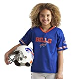 Franklin Sports Buffalo Bills Kids Football Uniform Set - NFL Youth Football Costume for Boys & Girls - Set Includes Helmet, Jersey & Pants - Small