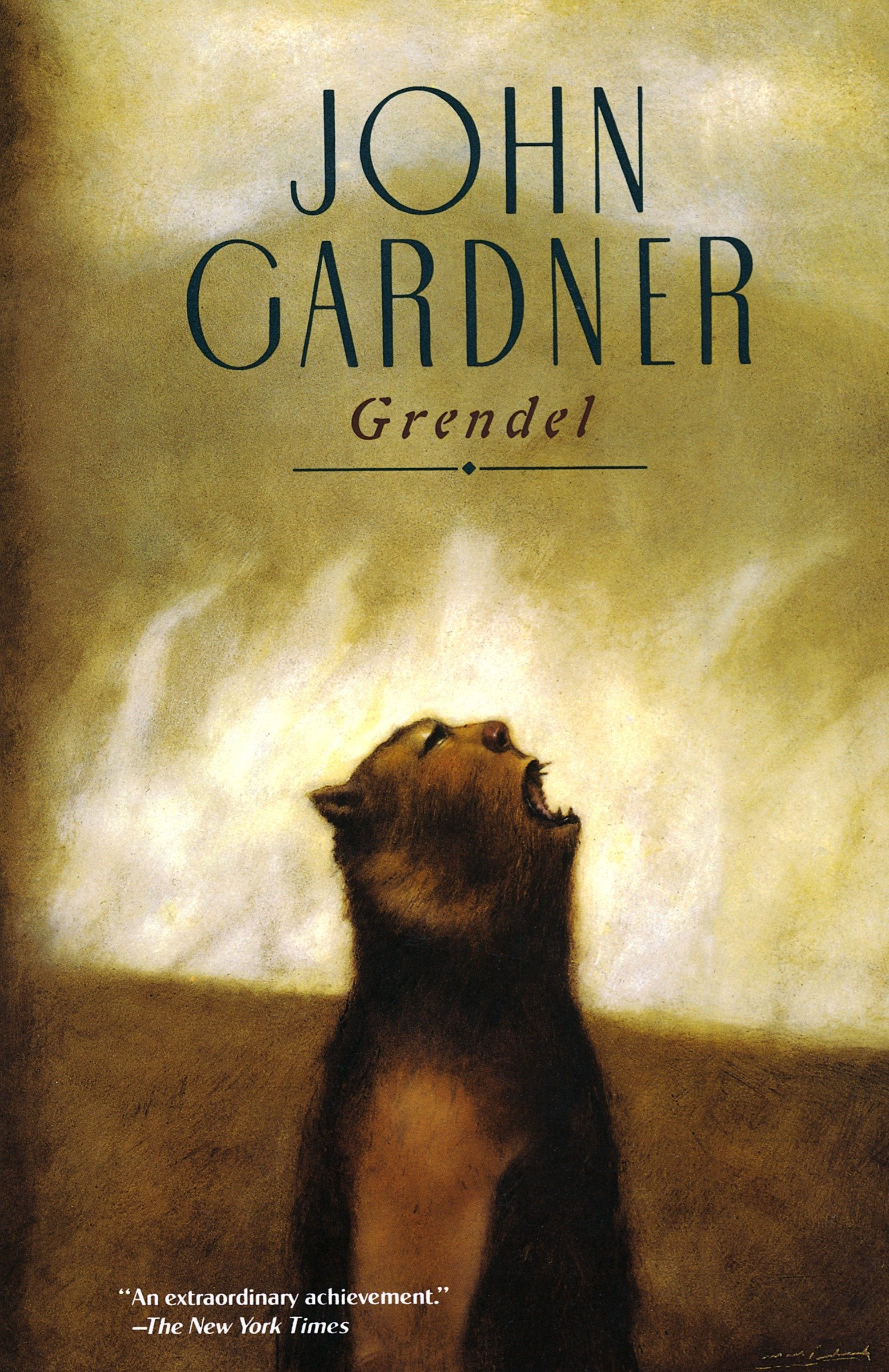 Image of cover of Grendel by John Gardner