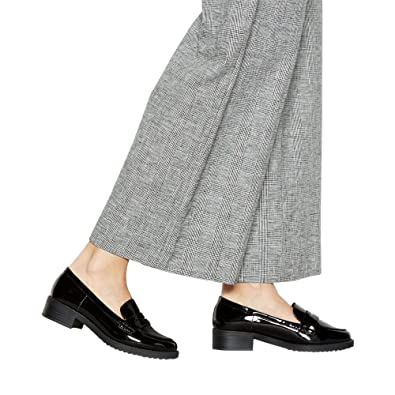 45e99c0f92b Principles Womens Black Patent  Reed  Low Heel Wide Fit Loafers ...