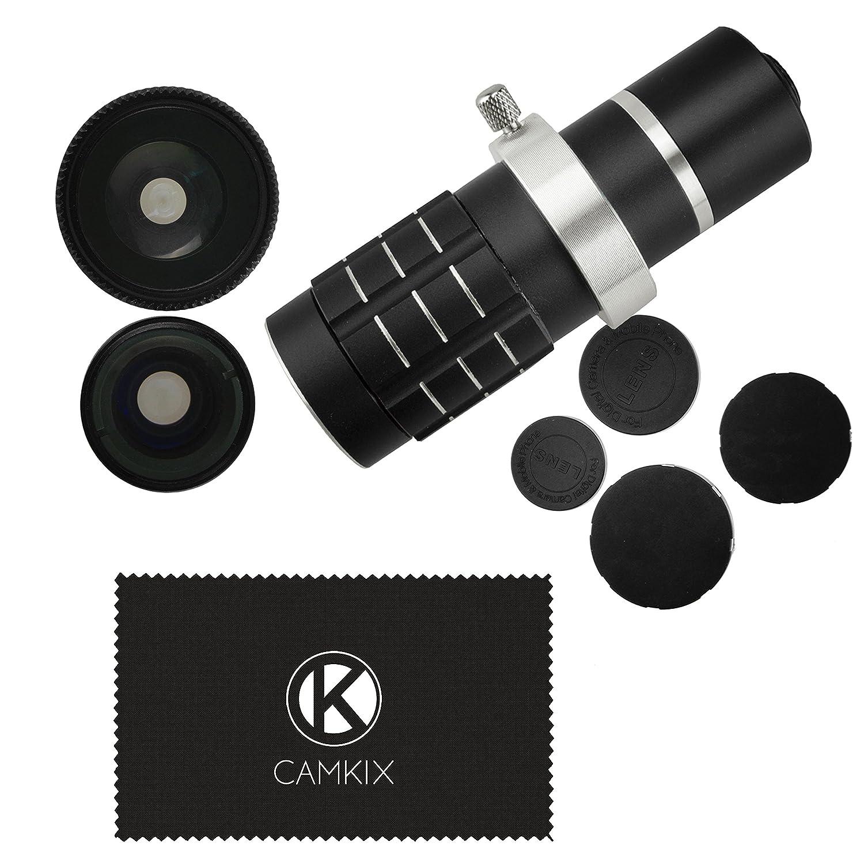Juego de Lentes para Camara Samsung Galaxy S5 incluye Anillo Sujetador del Lente Telefoto 12x / Lentes Ojo de Pez / Lentes 2 En 1 Macro y Gran Angular ...