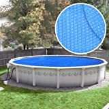 Robelle 24S-8 Box Heavy-Duty Solar Cover for 24-Feet Round Swimming Pool, Blue
