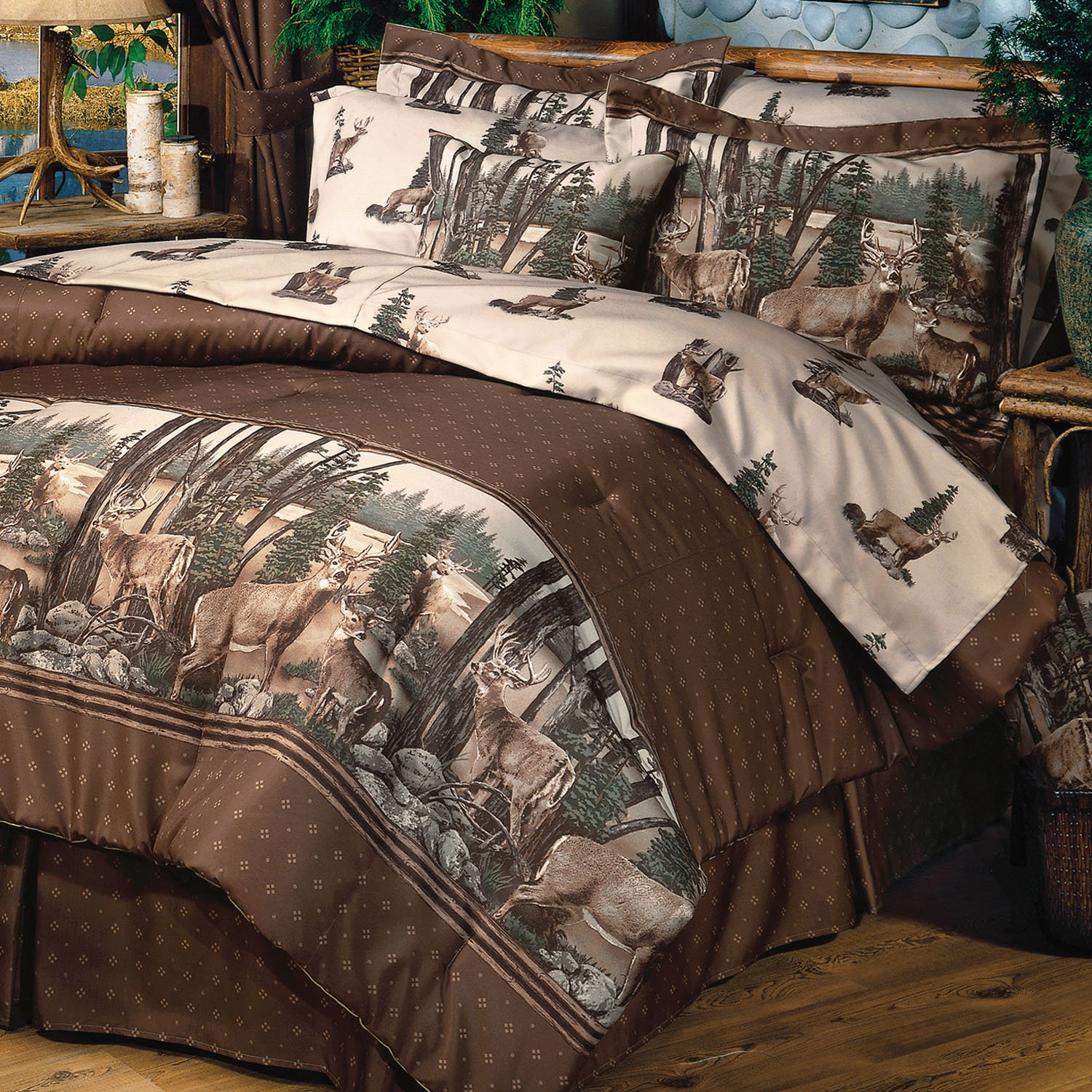 . Amazon com  Whitetail Dreams   Queen Comforter Set  Home   Kitchen