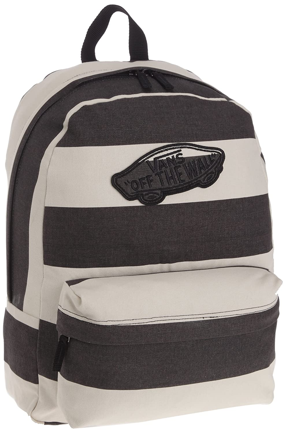 Amazon.com: Vans Realm Backpack Book Bag, Beige-Black: Clothing
