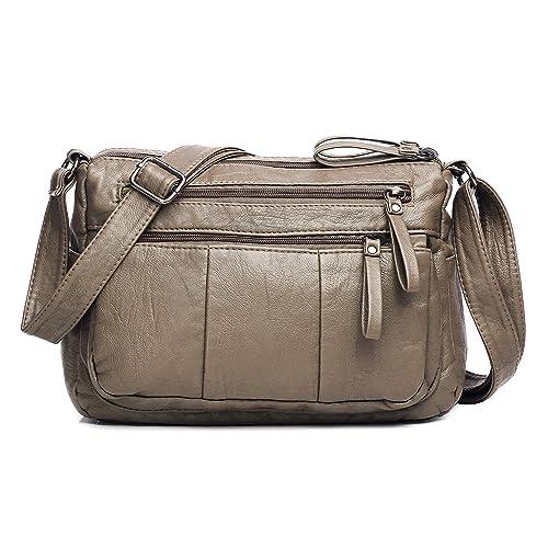68657b959e Volcanic Rock Women Crossbody Bag Pocketbooks Soft PU Leather Purses and  Handbags Multi Pocket Shoulder Bag  Handbags  Amazon.com