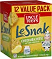 UNCLE TOBYS Le Snak Cheddar Cheese Dip & Cracker Value Pack, 1 Box of 12, 264g