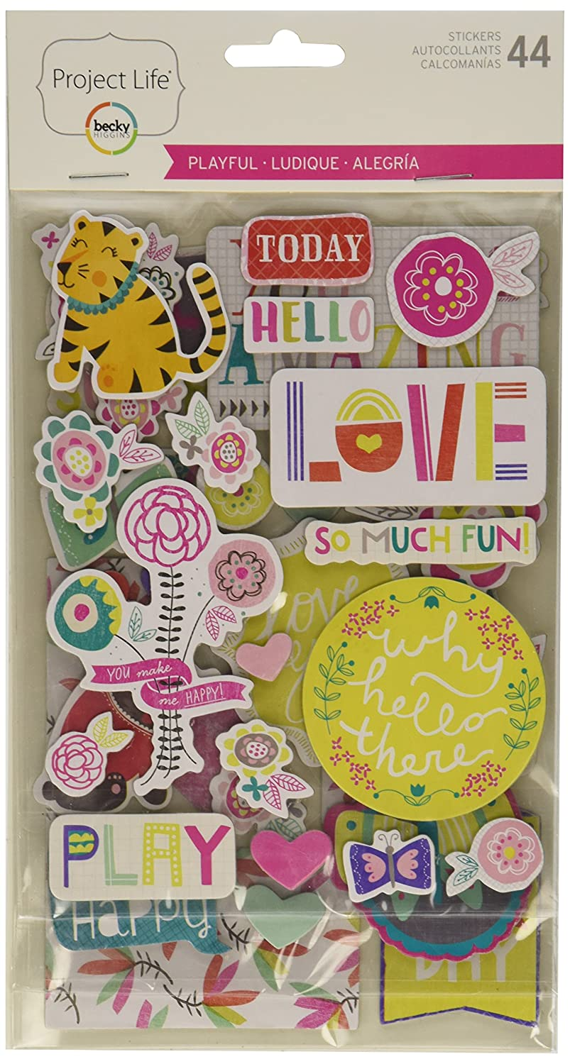 Project Life Playful Edition Chipboard Stickers American Crafts 718813803540