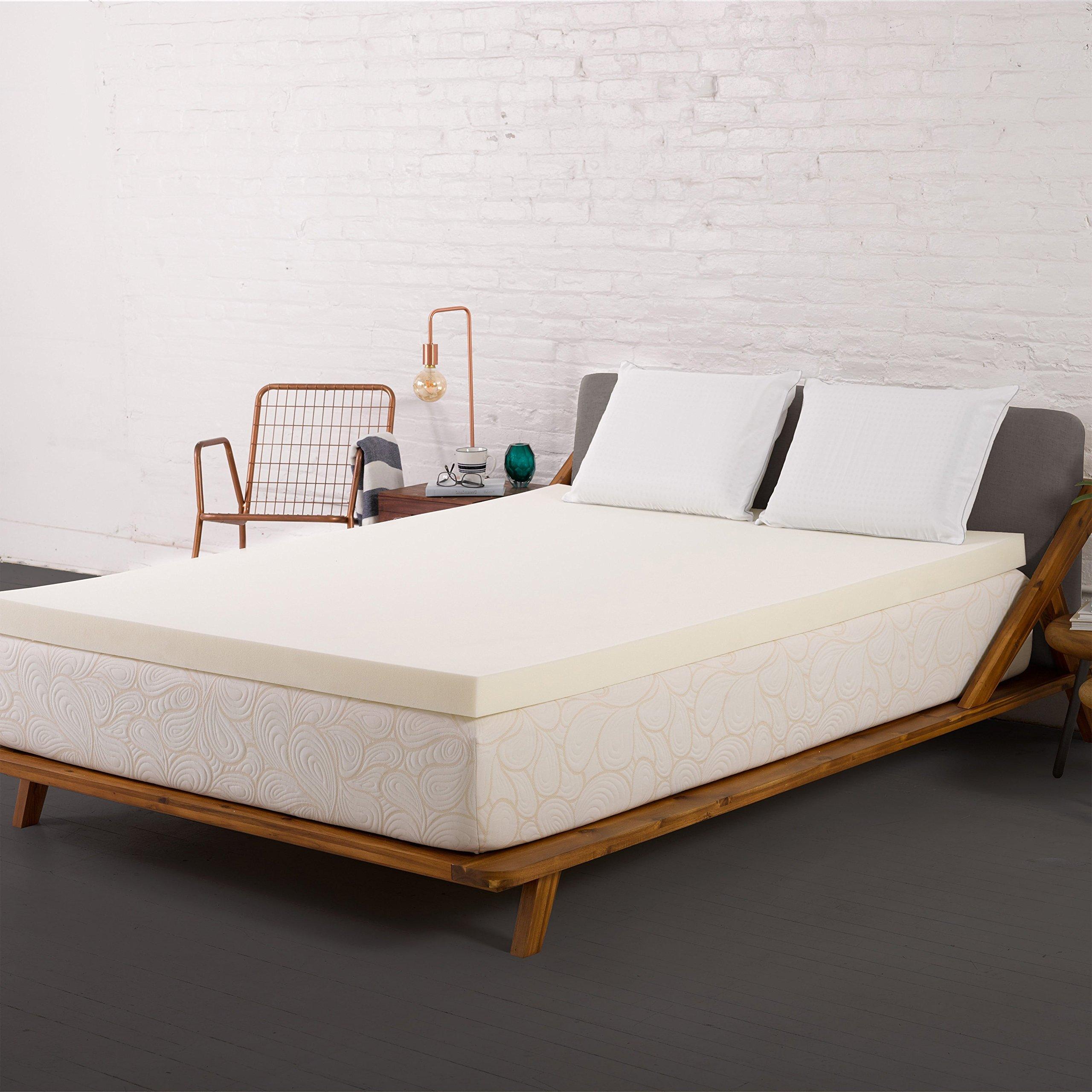 Authentic Comfort 4-inch Memory Foam Mattress Topper Queen