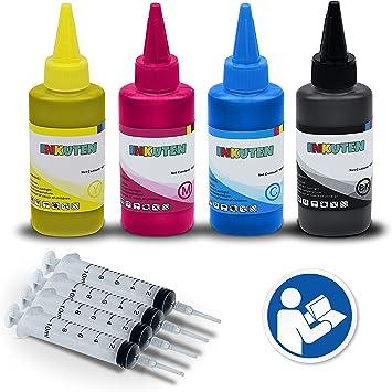 Inkuten Hp Tinte Refill Werkzeug Für 711 711 X L Tintenpatronen 4 X 100 Ml Usa Pigment Tinte Refill Kit Kompatibel Mit Hp Designjet T120 Designjet T520 Drucker Bürobedarf Schreibwaren