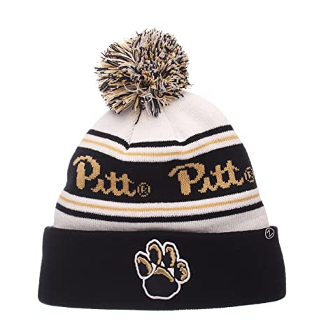 50d57232c67ae3 Amazon.com : ZHATS NCAA Pittsburgh Panthers Adult Men Finish Line Arctic  Beanie, Adjustable, White/Team Color : Sports & Outdoors
