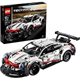 LEGO Technic Porsche 911 RSR 42096 Race Car Building Set STEM Toy for Boys and Girls Ages 10+ features Porsche Model Car with