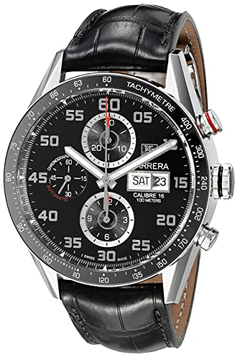 TAG HEUER CARRERA RELOJ DE HOMBRE AUTOMÁTICO 43MM CV2A1R.FC6235: Amazon.es: Relojes