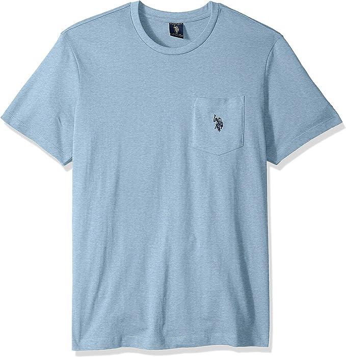 U.S. Polo Assn. Camiseta de Cuello Redondo con Bolsillo para ...