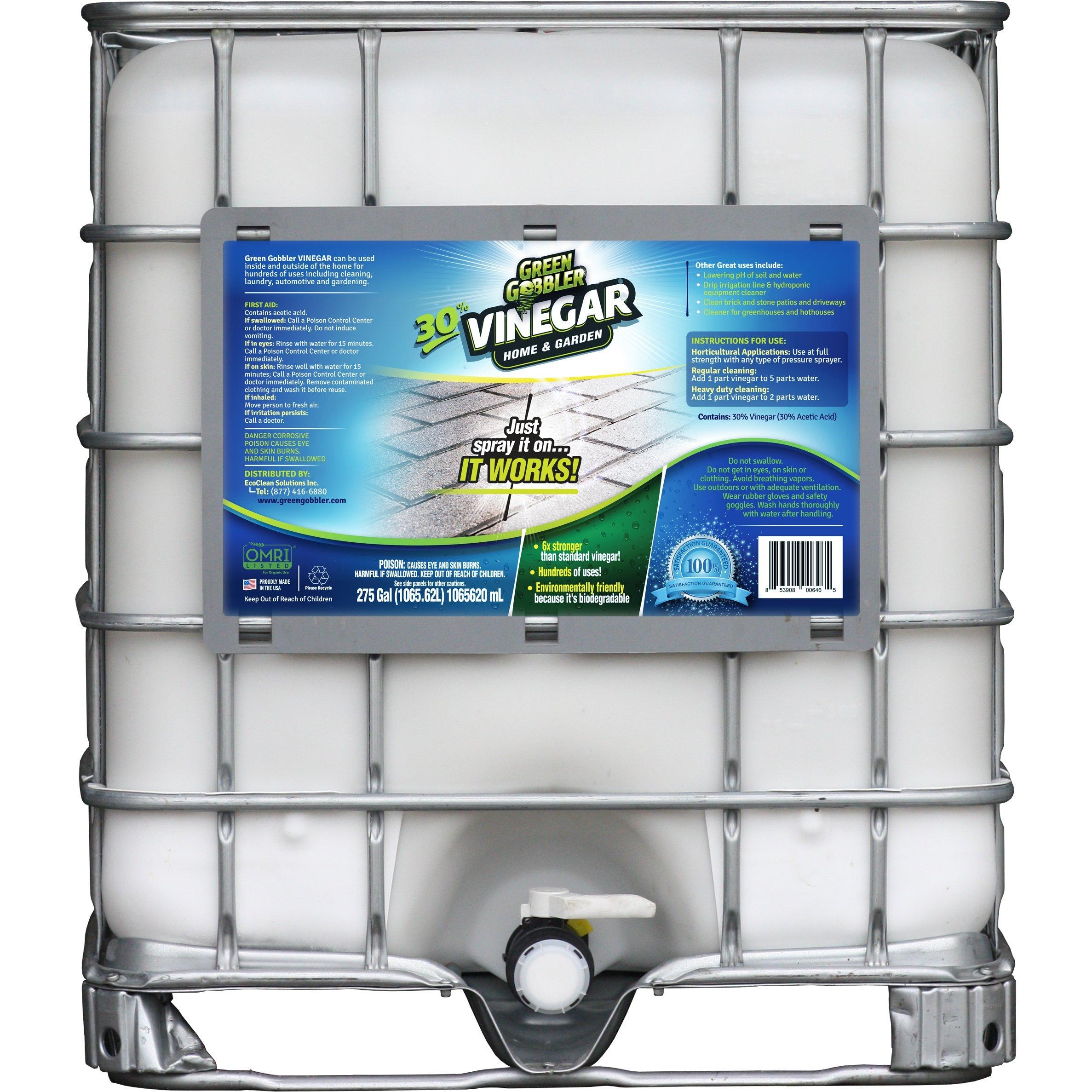 Green Gobbler ULTIMATE VINEGAR Home & Garden - 30% Vinegar Concentrate, Hundreds of Uses! (275 Gallon Tote)