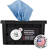 Bulldog Heavy-Duty All-Purpose Anti-Bacterial Cleaning Wipes   Tough on Grease, Dirt, Paint and Grime   Great for Home, Mechanics, Contractors, Plumbers, Painters  6 X 8 Inches   70 Wipes/Container