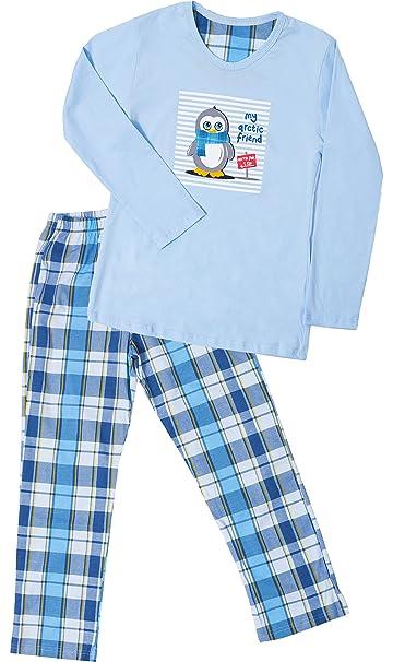 Cornette Pijamas Dos Piezas para Niña CR-811-Arctic-Friend (Azul,