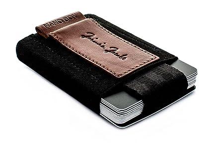 ce02685d4fcc71 JAIMIE JACOBS Portefeuille Homme Nano Boy Portefeuilles Minimaliste  Porte-Monnaie Fin Mini Wallet Porte-Carte Pince à Billets (Brun Foncé)