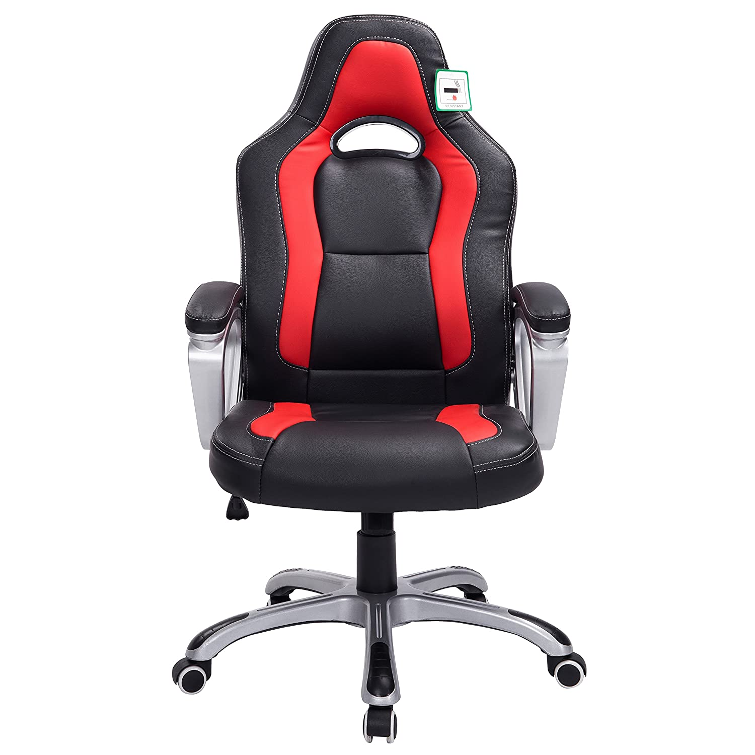 red chair ip racing office desk com walmart bucket executive style pu leather seat