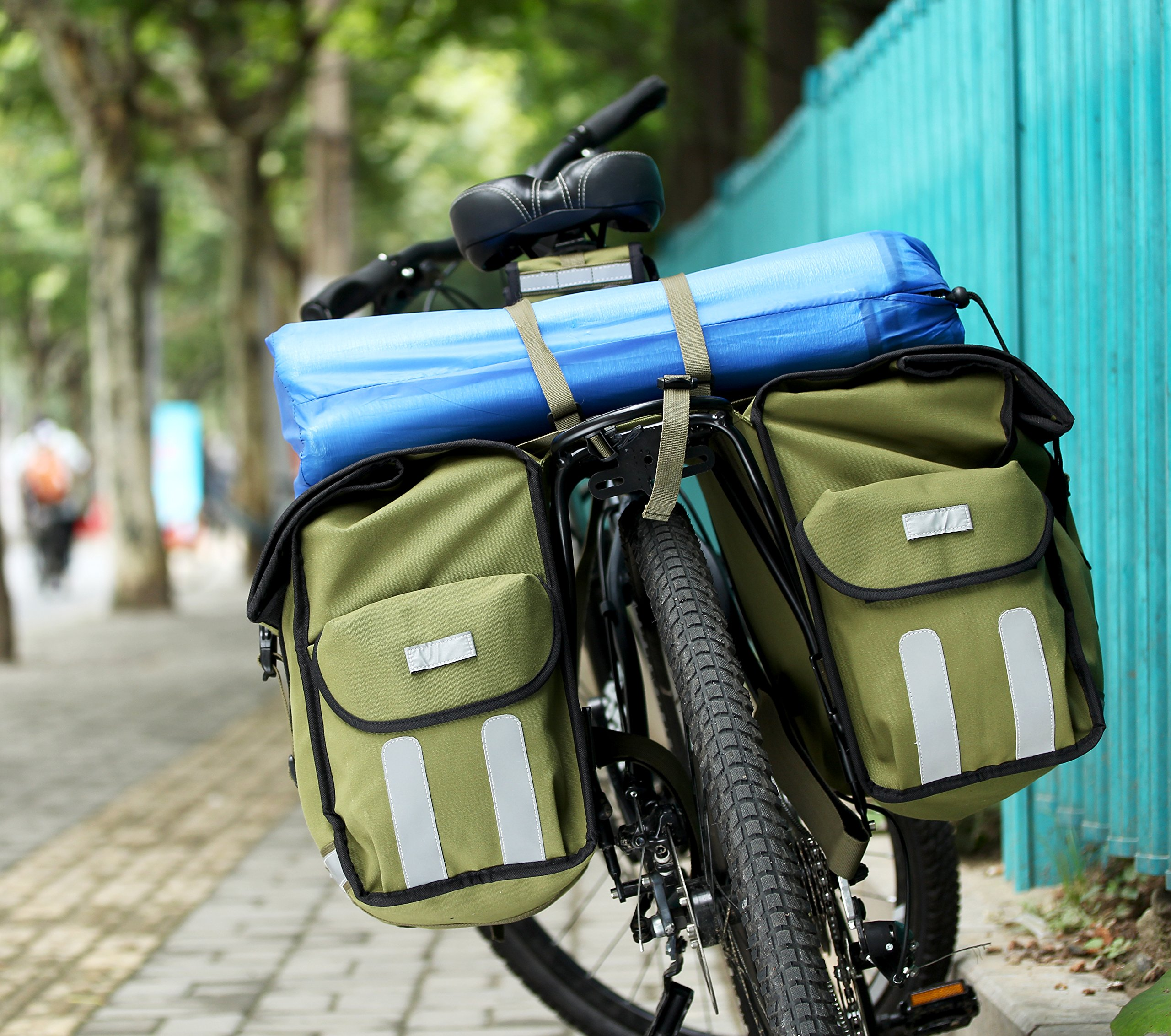 Roswheel 14686 Expedition Series Bike Rear Rack Bag Bicycle Double Panniers Cargo Trunk Bag by Roswheel (Image #8)