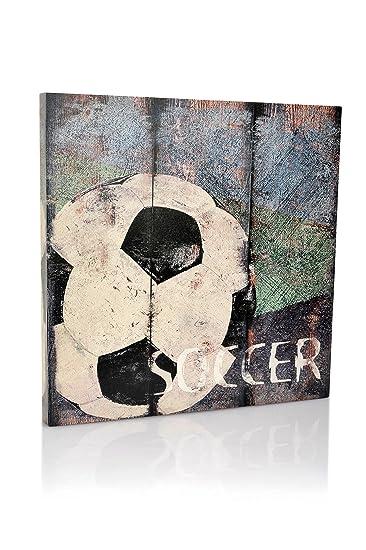 Soccer Sports Canvas Wall Art | Boys Bedroom Décor | Kids Room | Vintage  Sports Art