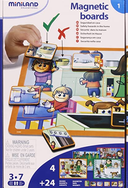 Amazon com: Miniland at Home Magnetic Boards: Toys & Games