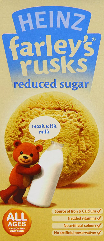Heinz Farley's Reduced Sugar Original Rusks 4-6+ Months, 150 g (Pack of 6) 76003518