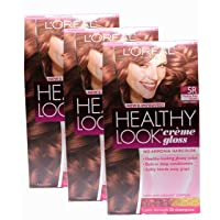 Loreal Healthy Look Hair Dye, Creme Gloss Color, Medium Red Brown 5R, 1 ct (Pack...