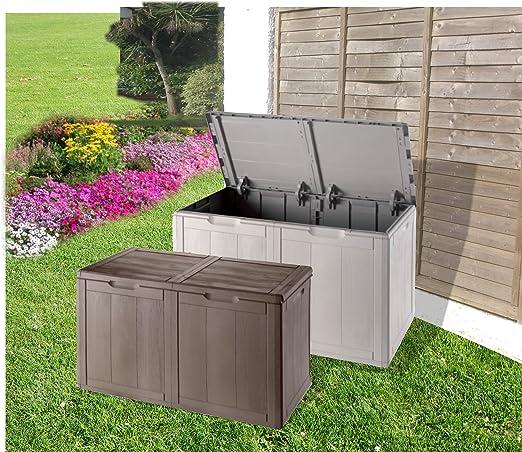 groundlevel.co.uk Increíble Caja de Almacenamiento de jardín Resistente al Agua en Color marrón y tamaño Medium: Amazon.es: Jardín