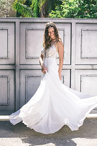 Amazon Com Hand Made Bohemian Boho Backless Beaded Lace Wedding