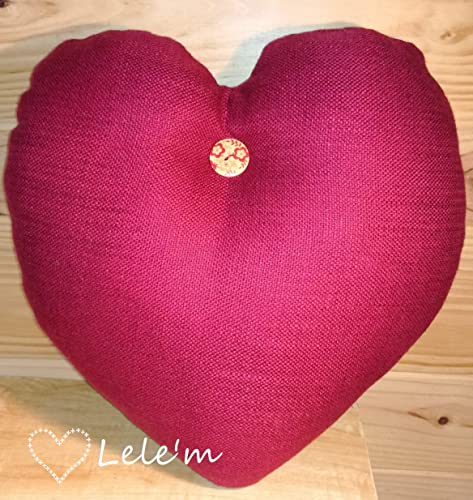 Cojín con diseño de corazón. Regalo enamorados. Decoración ...