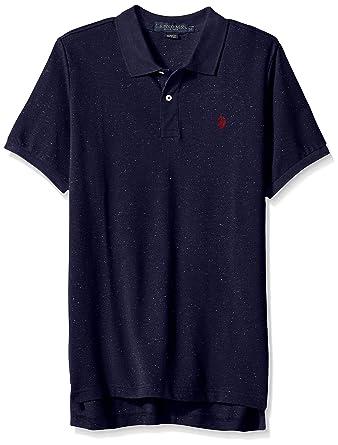 U.S. Polo Assn. Hombres Camisa Polo - Azul -: Amazon.es: Ropa y ...