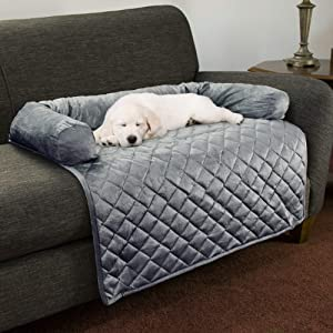 PETMAKER Furniture Protector Pet Cover with Shredded Memory Foam in Gray for Dogs, 35