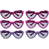 "Disney Minnie Mouse Heart Eye Glasses Birthday Party Accessory Favour and Prize Giveaway (6 Pack), Multi Color, 6.8"" x 6.7"" x 5.4""."