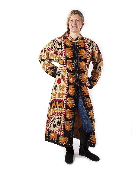 hippy kaftán diseño de traje de neopreno para mujer boho Color de pared para abrigos de piel de elefante de albañil de piedra: Amazon.es: Ropa y accesorios