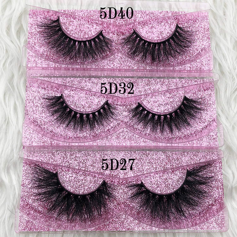 79e2a09858d Amazon.com : 5D mink eyelashes GB popular long thick 3d mink lashes 50  styles UK mua Rose gold case Volume 3d mink lashes, C, 0.15mm, Cheating, ...