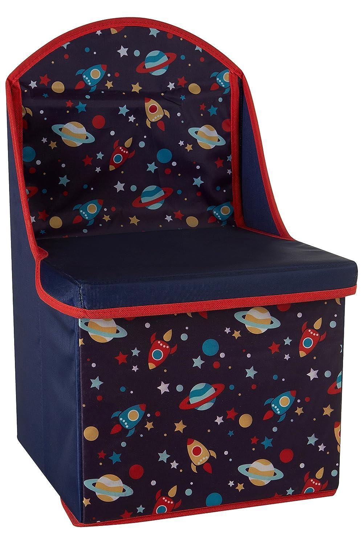 Premier Housewares Children's Storage Box/Seat, Pirate Design, Wood - Blue 1901695