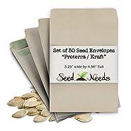"""Set of 50 Proterra Self Sealing Seed Envelopes (Die 2b) 3.25"""" x 4.50"""""""