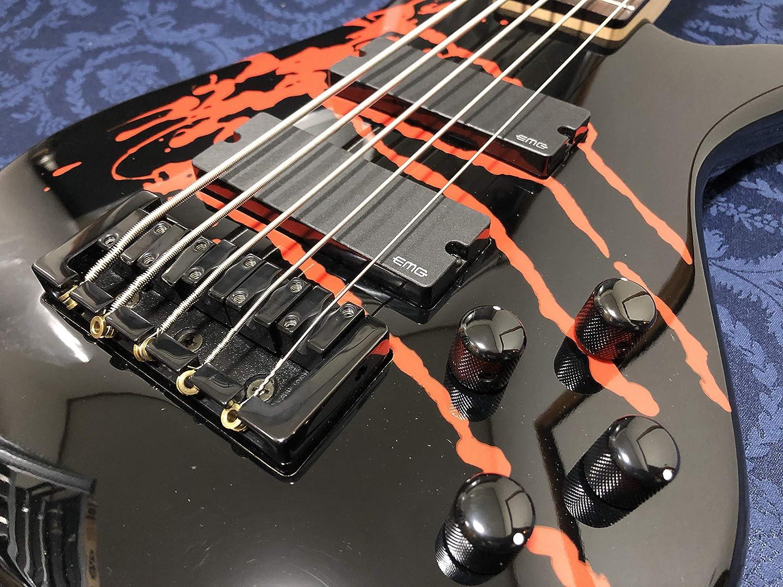 Spector Legend5 Alex Webster 5-String Bass Solid Black Gloss w/Drip Pattern   B07T4Z373Q